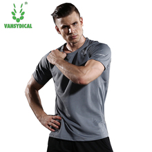 2018 Short Sleeve Surventement Men's Sport Running Shirt Quick Dry Basketball Soccer Training T Shirt Men Gym Clothing