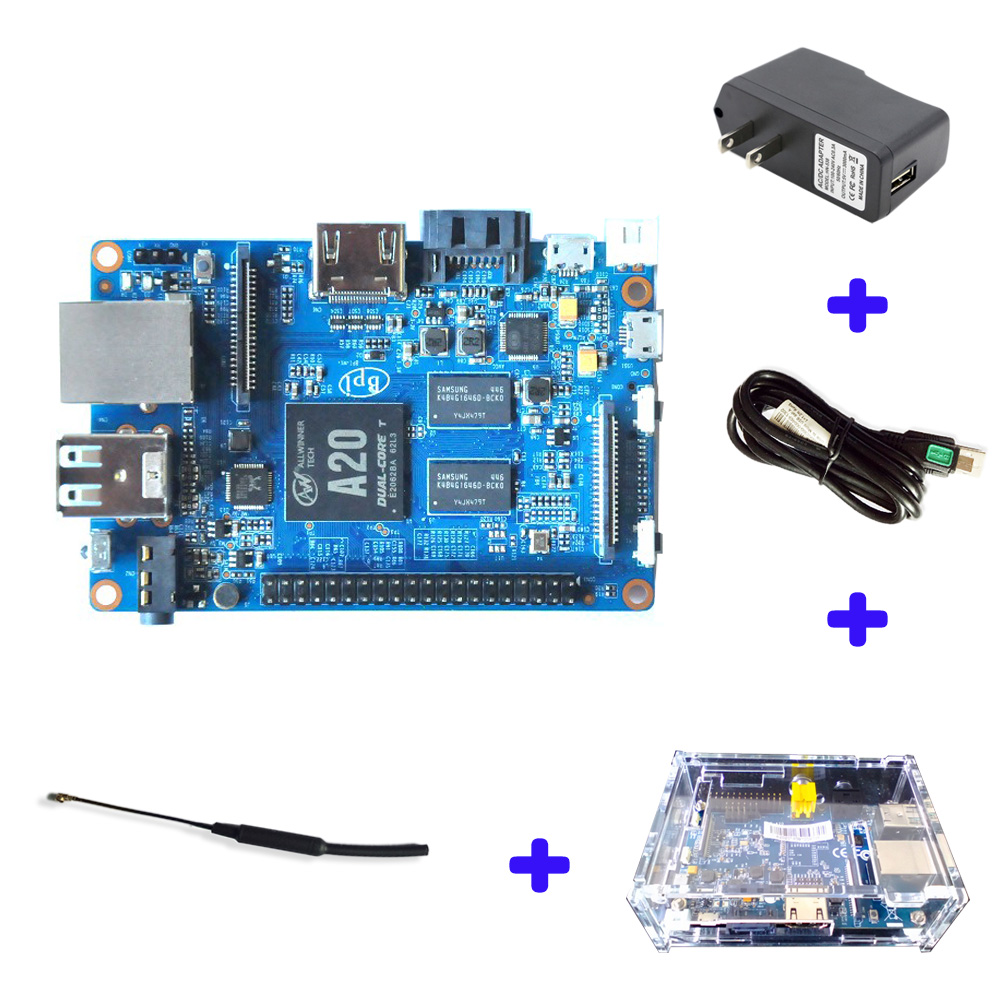 Original Banana Pi BPI M1 Plus A20 Dual Core 1GB RAM Open-source Development Board Single Board Computer Raspberry Pi Compatible