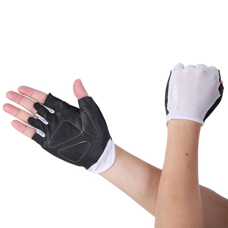 Женские/мужские перчатки для тренировок, тренажерного зала, бодибилдинга, спорта, фитнеса, перчатки для занятий тяжелой атлетикой, мужские перчатки для женщин S/M/L - Цвет: W