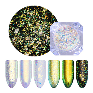 Image 4 - 1 Box Chameleon Irregular Nail Sequins sparkly Foils Colorful Glitter 3D  Magic Effect Nail Flakes UV Nail Gel
