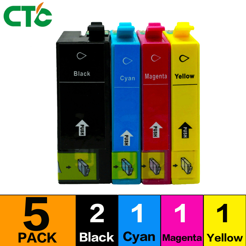5X T3591 ink Cartridge compatible for WF4720DWF Inkjet WF4725DWF WF4730DTWF WF-4730DWF WF 4740DTWF WF-4740DWF with chip