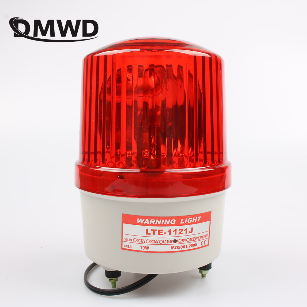 AC110V 220V 380V  Warning Alarm Construction Lamp Bulb Rotating Beacon Traffic Light Siren LTE-1121J With Buzzer Sound