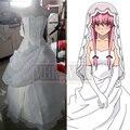 Дневник будущего Mirai Nikki Yuno Gasai Белое свадебное платье косплей костюм Бесплатная доставка