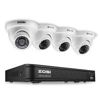 ZOSI 4CH FULL HD 1080 P видеонаблюдения Камера Системы, 1080 P HD-TVI DVR Регистраторы 4X2,0 Мп 1080 P Крытый наружная камера видеонаблюдения