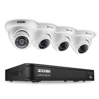ZOSI 4CH FULL HD 1080P CCTV Security Camera System 1080P HD TVI DVR Recorder 4X 2
