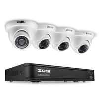 ZOSI 4CH FULL HD 1080P CCTV Security Camera System 1080P HD TVI DVR Recorder 4X 2