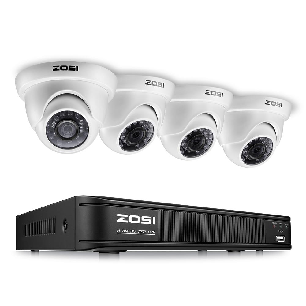 ZOSI 4CH FULL HD 1080P CCTV Security camera System,1080P HD-TVI DVR Recorder 4X 2.0MP 1080P Indoor Outdoor Surveillance Camera