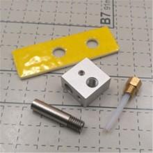 CTC MK8 EXTRUDER hotend kit 0.4mm marked Nozzle ptfe tube throat ceramic block for FOR CTC BIZER REPLICATOR 3D printer