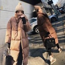 جديد الخريف/الشتاء المرأة أسفل سترة الأمومة أسفل سترة ملابس خارجية المرأة معطف الحمل حجم كبير الملابس الدافئة سترات 1040