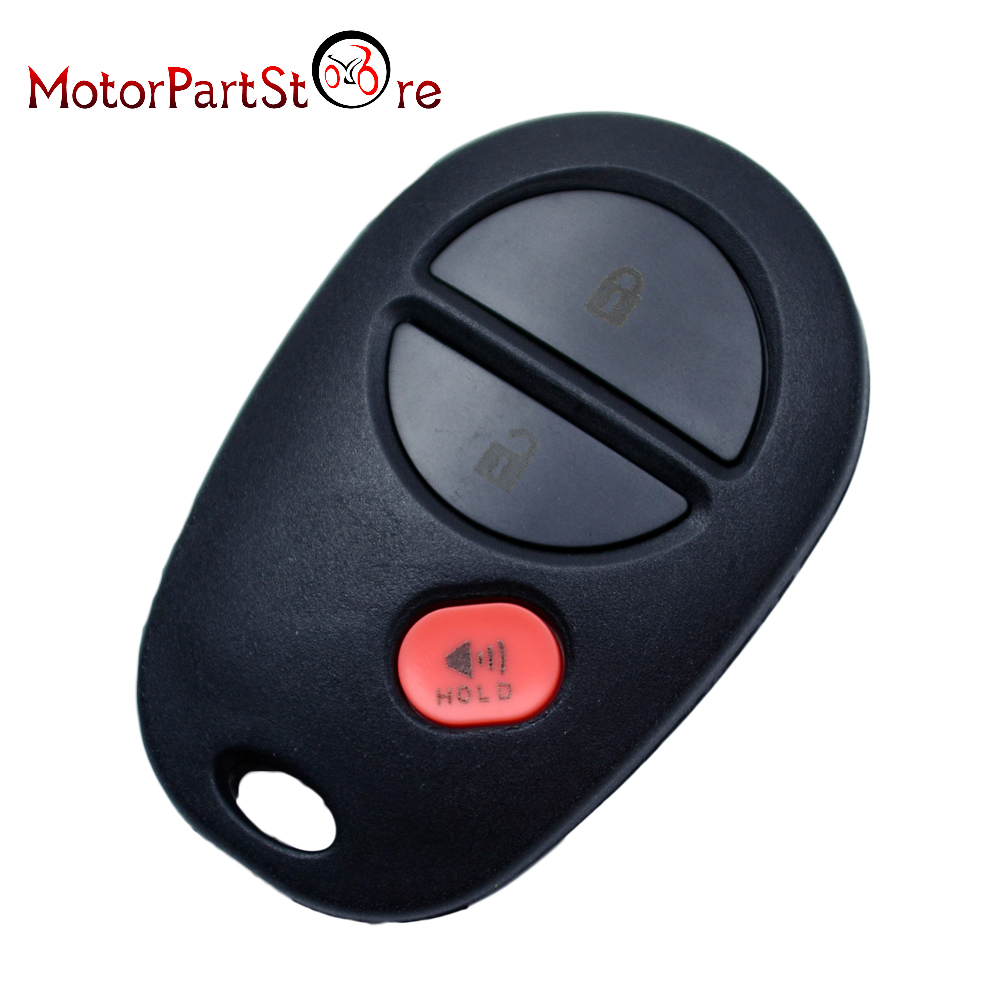 3 Button Replacement Case Remote Keyless Entry Key Fob Shell For Toyota Highlander Sienna Sequoia Tacoma Tundra FCC GQ43VT20T@15