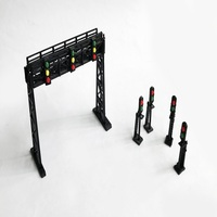 1:150 /160 scale shelf and signal light model set for train model layout unassembly toy
