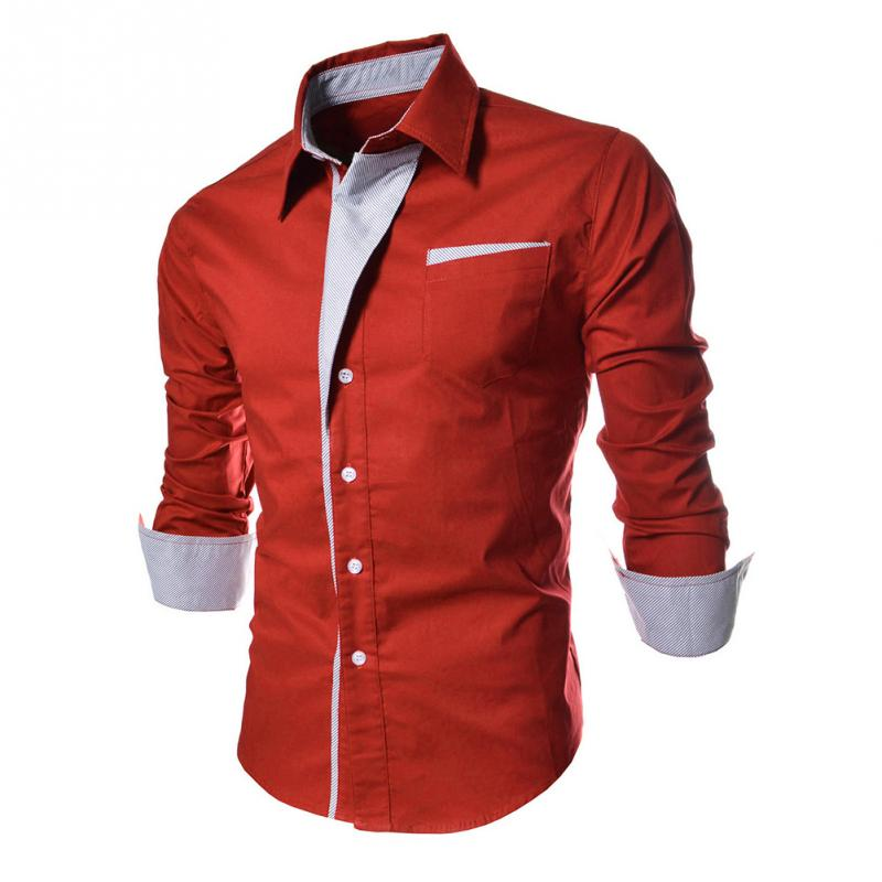 2018 High Quality Fashion Stripes Assorted Colors Style Slim Shirt Men Casual Style Long-Sleeve Shirt