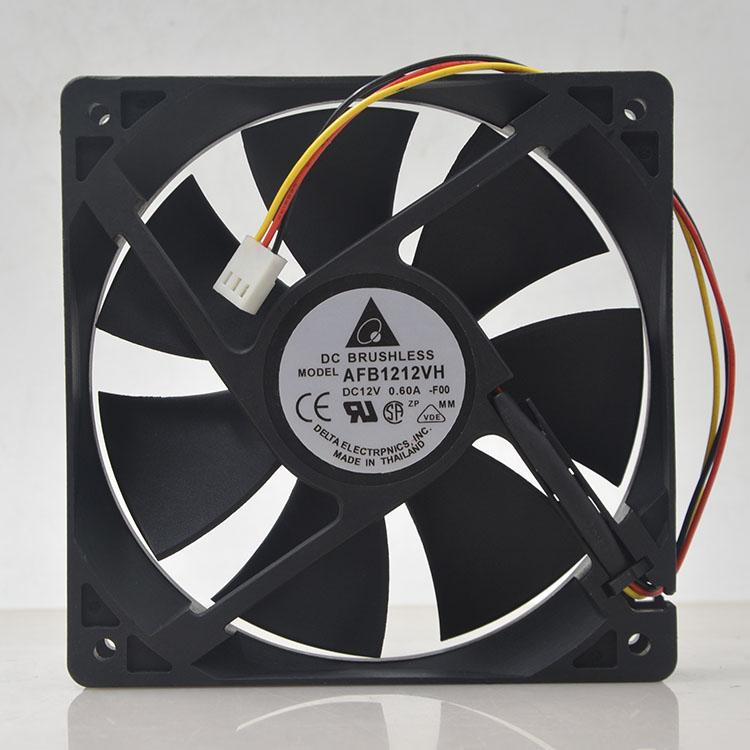 For Delta AFB1212VH-BL3V AFB1212VH-F00 AFB1212VH 12025 12V 0.60A 3lines Dedicated Fan For 120*120*25mm