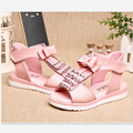 girls summer shoes New Hot sale for children fashion sandals Summer girls sandals breathable comfortable leather sandal 18