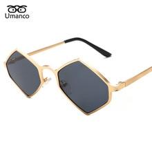 7ac5055f00697 Umanco Geométrica Steampunk Óculos De Sol Das Mulheres Dos Homens Do  Vintage Da Moda de Metal