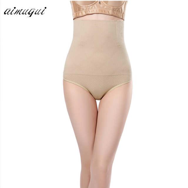 01ff4fb9eb Plus Size Women High Waist Butt Lifter Body Shaper Sexy Thong Pants Waist  Trainer Tummy Hip