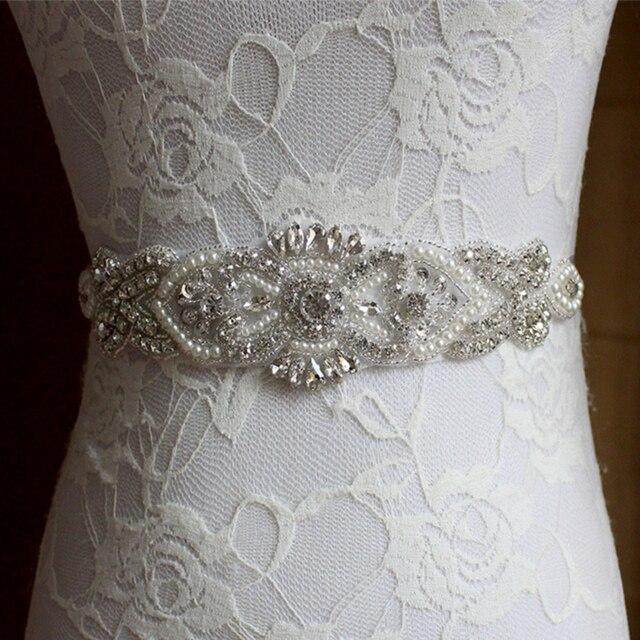 Handmade Pearls Rhinestones Wedding Bridal Sash 2017 New Formal Wedding Belt Long Custom Made