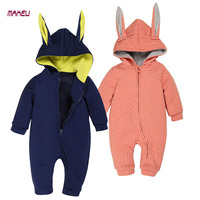 2017 Cute Newbron Baby Romper Autumn Cotton Baby Jumpsuit Animal Rabbit Kid Full Sleeve Clothing