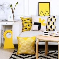 ديكور المنزل وسادة الأرجواني والأصفر geomatric جودة عالية الكتان القطن الببغاء وسادة وسادة