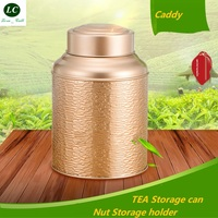 Storage Bottle Jar Stainless steel exquisite Metal Tea Leaf Storage double cap tea storage packing box Nut foods Sealing Tank