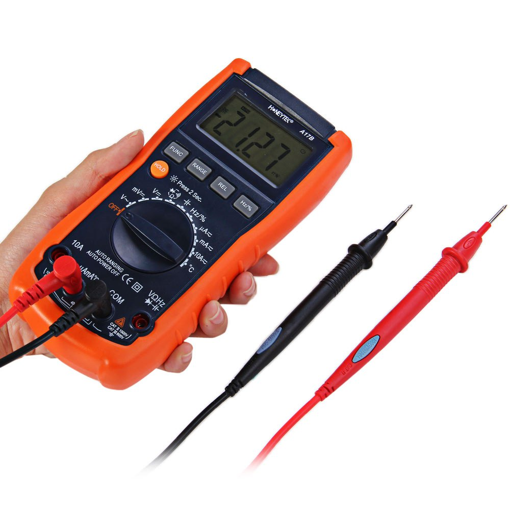 ФОТО HONEYTEK A17B Handheld Digital Multimeter AC / DC Current Voltage Resistance Capacitance Frequency Temperature Multitester