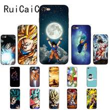 Funda de teléfono RuiCaiCa Dragon Ball z popular de moda anime TPU silicona suave negro para iPhone 8 7 6 S 6 Plus X XS X MAX 5 5S SE XR 10(China)
