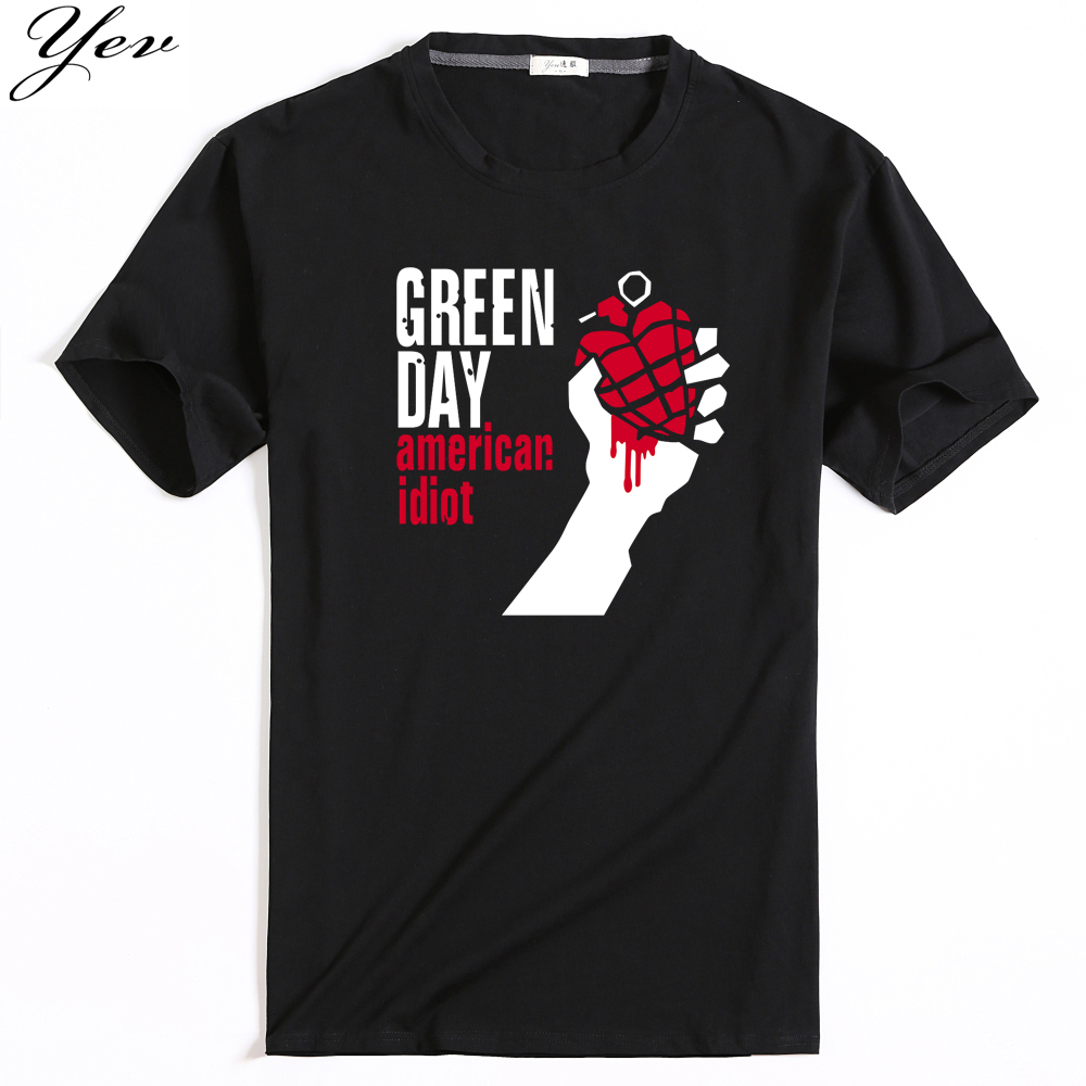 2017 summer design man tshirt famous band green day for T shirt design 2017