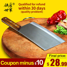 Chef professional slicing knives stainless steel cleaver knife handmade forged kitchen vegetable fruit meat нож