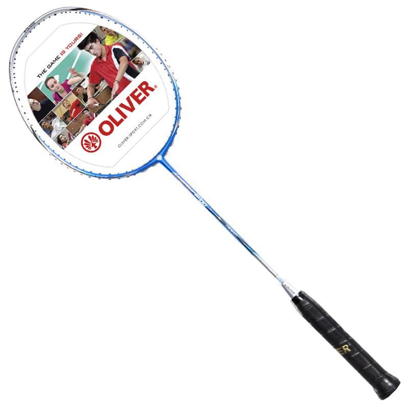 Original OLIVER Badminton Rackets With Carbon Heavy Tip And Stiff Shaft For AttackType Sports Racquet With Pu Grip