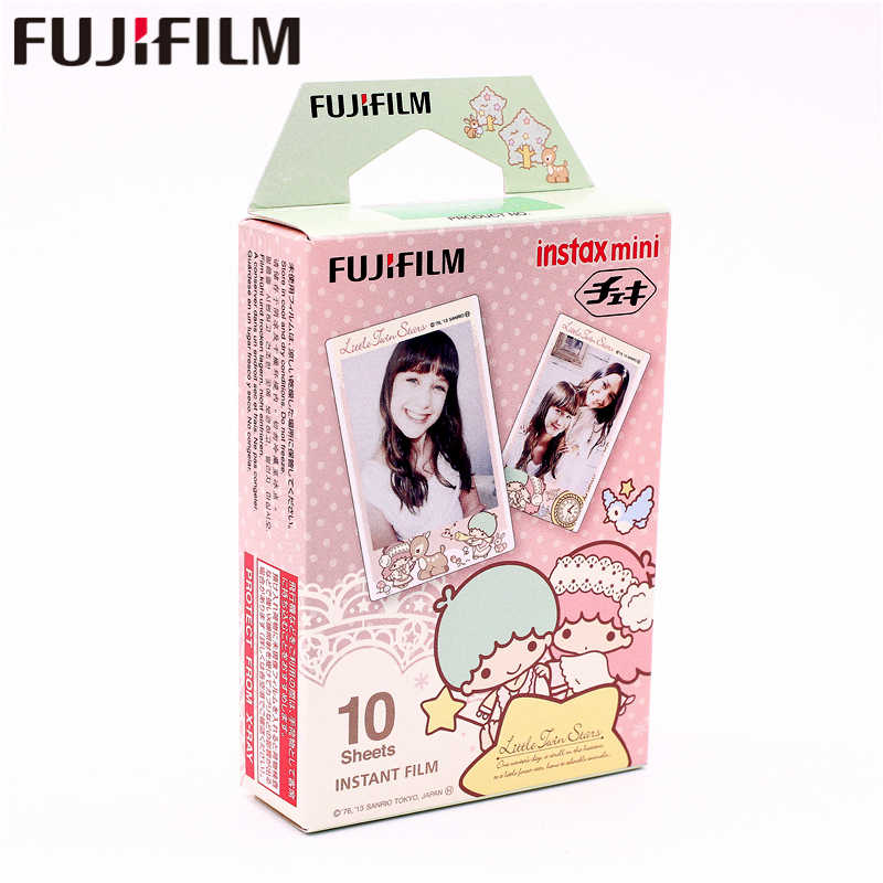 Fujifilm 10 fogli Instax Piccole Stelle Gemelle Mini Immediata Film photo paper per Instax Mini 8 7 s 25 50 s 90 9 SP SP-Fotocamera