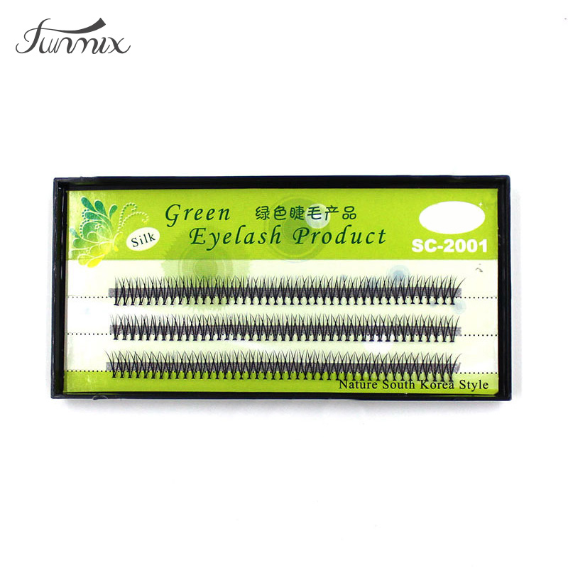 Brand FUNMIX Ny falsk lash 8/10 / 12mm 120 pcs Individuelle Natural Long False Eyelashes 120pcs Individual Maquiagem