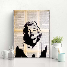 Black And White Marilyn Monroe Stencil Canvas Posters Prints Wall Art Painting Decorative Picture Modern Home Decoration Artwork