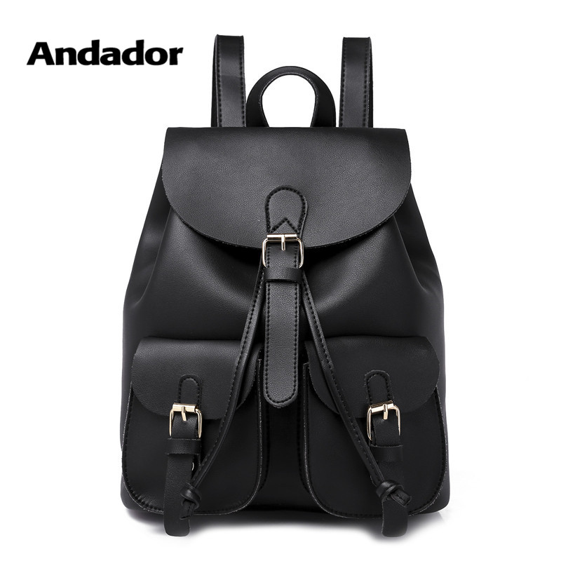 Girl Bag Backpacks School-Bags Teenager Female Vintage New-Fashion Soft Women PU Big-Capacity
