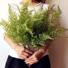 Настоящее прикосновение папоротника пучок листьев искусственный папоротник зелень Evergreen растение для свадьбы центральные декоративные зелени