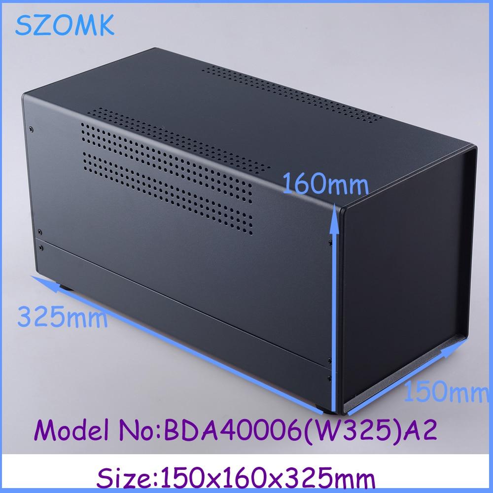 (1 pc) 150x160x325 mm project case electronics enclosure instrument enclosure Iron steel enclosure case