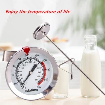 Odatime Food Grade termometr do mięs ze stali nierdzewnej grillowanie pieczenie próbnik do żywności kuchnia szybkie Reation przyrządy do pomiaru temperatury tanie i dobre opinie YW5300 Termometry kuchenne Gospodarstw domowych termometry Metal Dial Oven oil temperature liquid