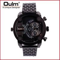 Fashion Casual Style Men Watch OULM Male Wristwatch HT3130 Stainless Steel Men Quartz Watch Unique Bracelet