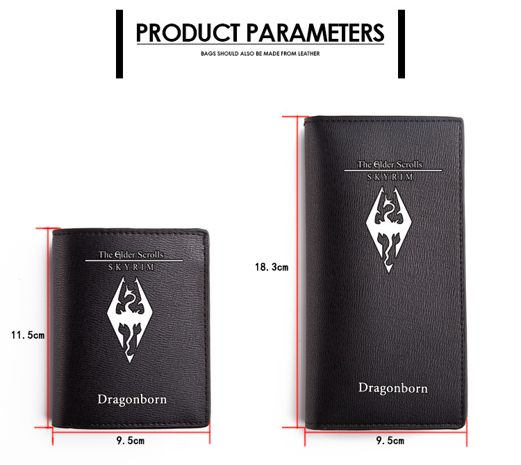 The Elder Scrolls Wallet Black PU Short Purse (3)