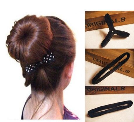 Купить аксессуары для волос женщин губка пучка инструменты плетения