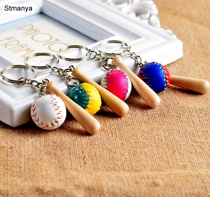 Free Shipping Football Club Key Chain Car Keychain Baseball 4 Colors Bag Pendant For Bag Charm Car Key Ring Cute Jewelry 1-17163