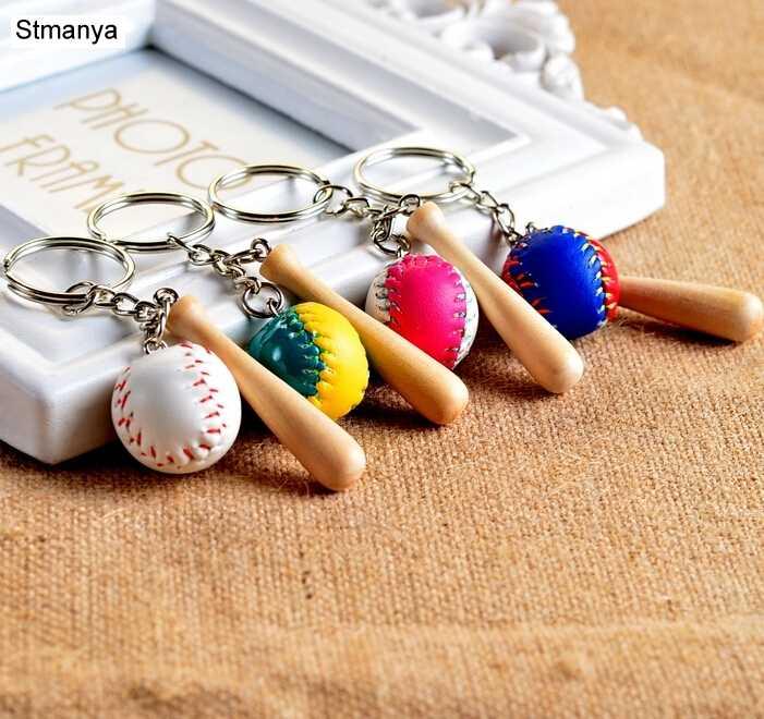 Frete grátis futebol clube chaveiro do carro chaveiro beisebol 4 cores saco pingente para saco charme carro chaveiro bonito jóias 1-17163
