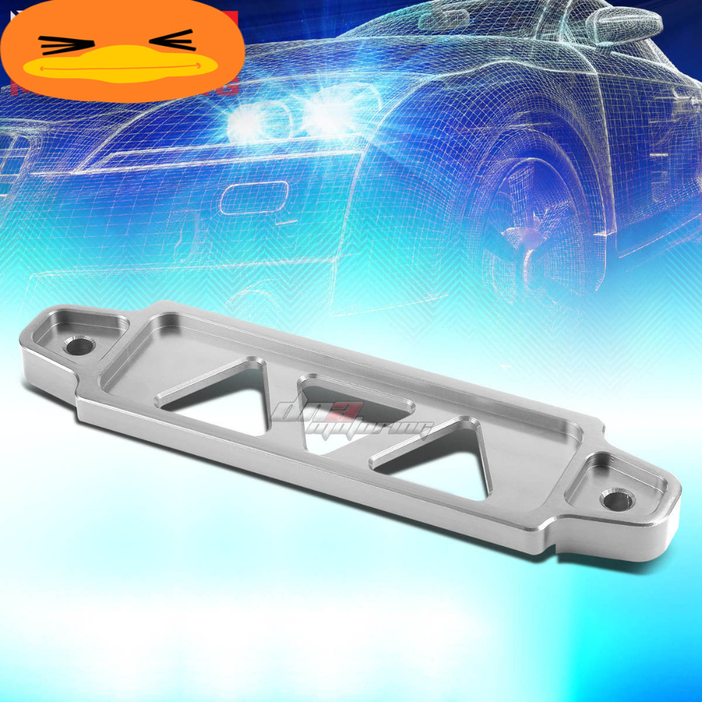 XYIVYG 170MM/145MM SILVER ALUMINUM CAR BATTERY TIE DOWN MOUNT BRACKET HOLDER BRACE BAR