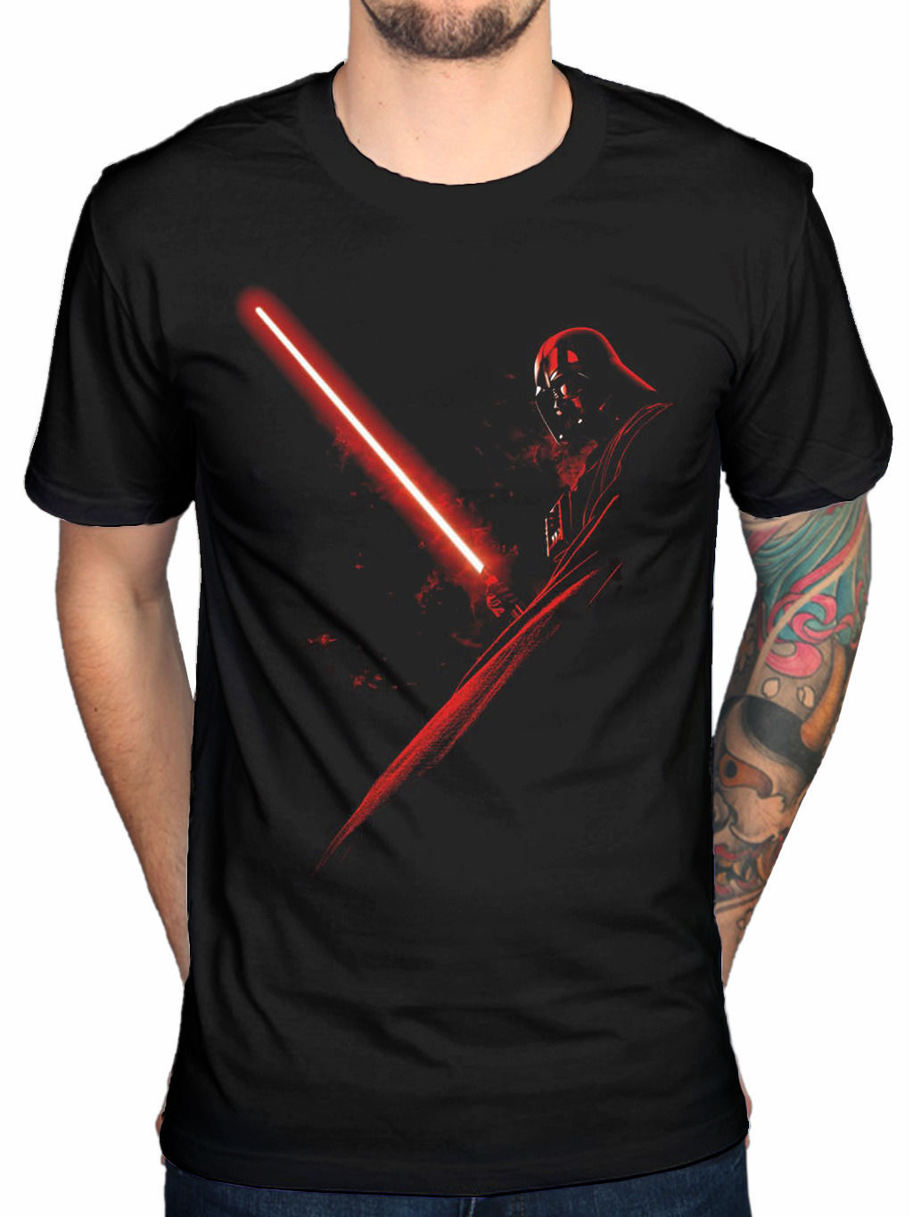Official La Guerre Des Vador Ombre T Shirt Film Yoda Darth Vader The
