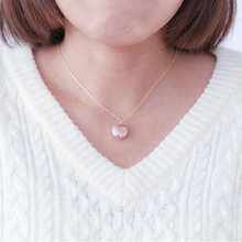 1pcs/lot solid 925sterling silver handmade round shape irregular freshwater pearls pendant necklace gold color geometric choker