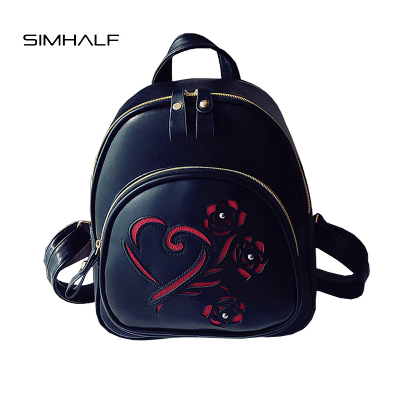 SIMHALF 2017 New Fashion Women Backpack High Quality PU backpacks female for teenage girls Hollow out