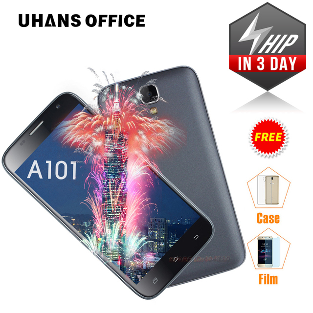 Original UHANS A101 Mobile phone 5.0 Inch 4G LTE Android 6.0 MTK6737 Quad Core Smartphone 1G RAM 8G ROM 1280 x 720 Smartphone