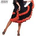 Senhora Nova Dança Saia Adulto Dança de Salão Saia Feminino Rumba Samba Dança Trajes Meninas Quadrado Dança Terno Promoção B-4277