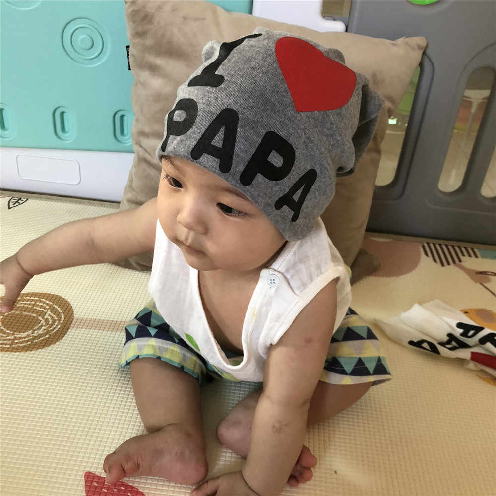 e7ed5476937 MUQGEW Baby headbands Autumn Baby Cotton Hat Warm Knit Crochet Spring Cap  Hats Infant Scarves drop