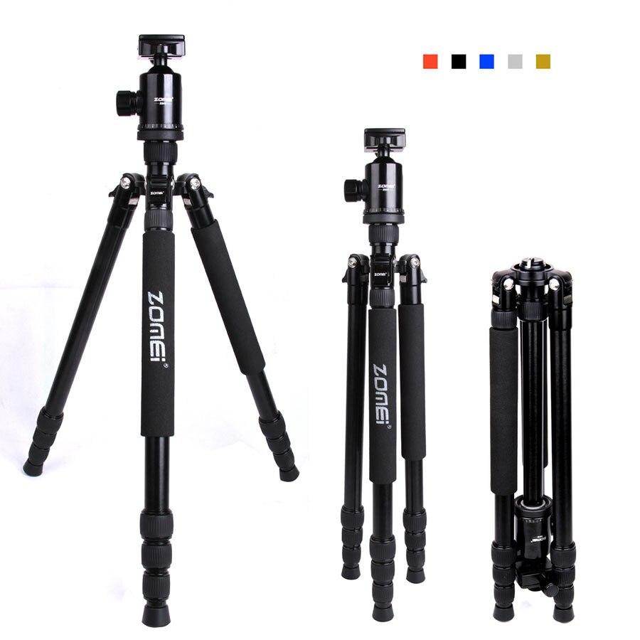 Appareil photo REFLEX portable petit trépied de caméra Zomei Z888 monopode appareil photo REFLEX professionnel qualité trépied en aluminium support