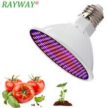 Phytolamp полный спектр E27 Светодиодная лампа для выращивания растений с питанием от источника 54/72/200 СИД свет для выращивания растений в светло-красный синий светодиод для красивыми растениями цветком роста лампы